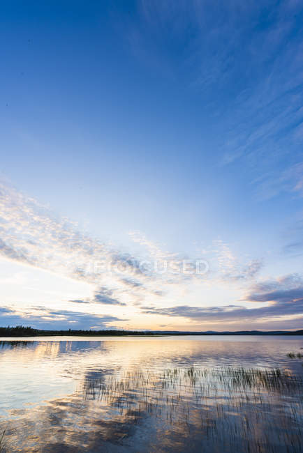 Finland, Lapland, twilight above stunning lake — Stock Photo