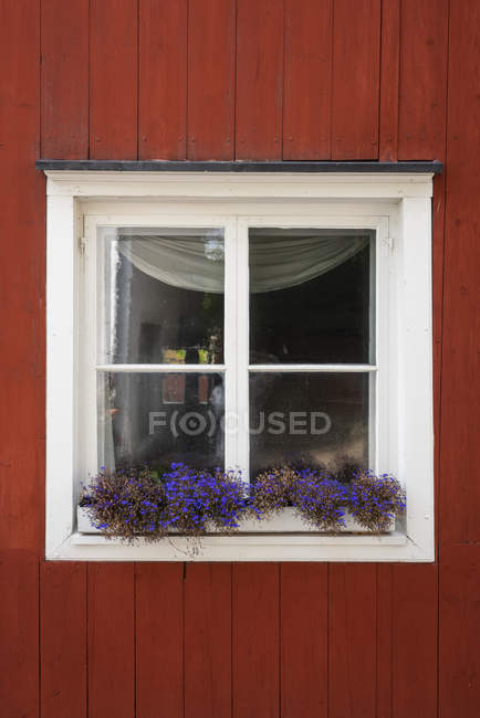 Finland, Close-up of a typically finish wood house — стоковое фото