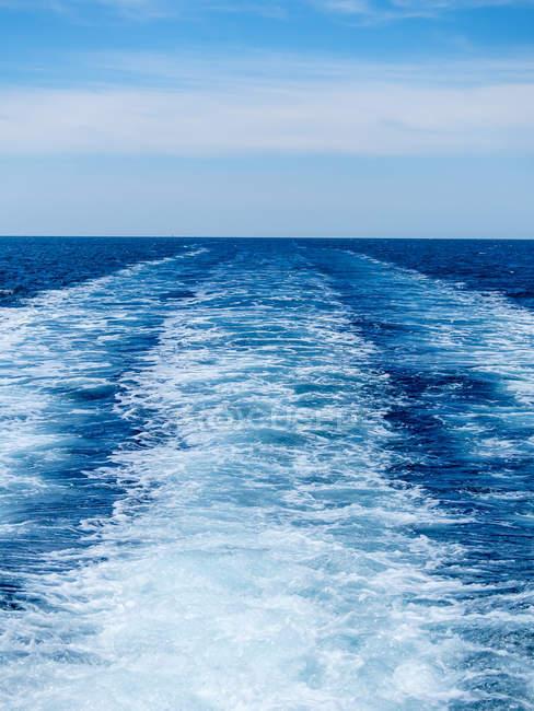 Хорватия, Адриатическое море, Мурвица, проснись — стоковое фото