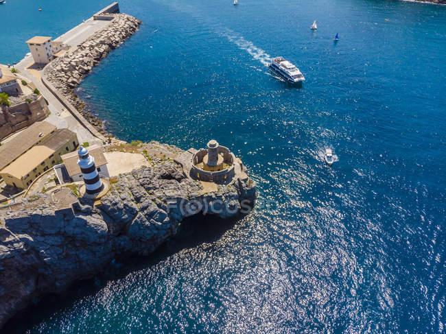 Spain, Balearic Islands, Mallorca, Serra de Tramuntana, Port de Soller — Stock Photo