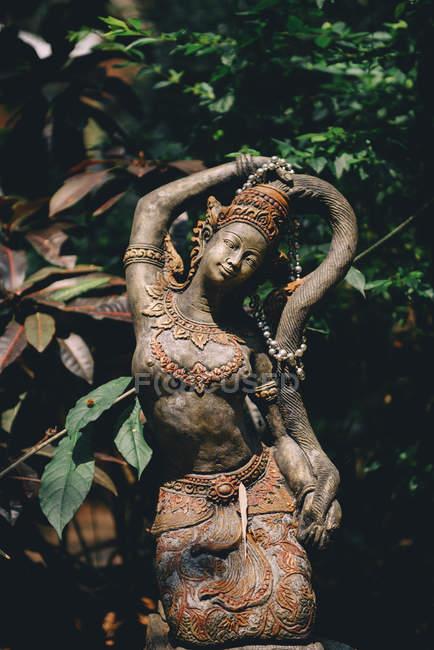 Таїланд, Чіанг май, буддійська статуя в середині джунглів в буддійському храмі ВАТ