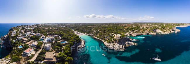 Spanien, Balearen, Mallorca, Luftaufnahme der Cala llombards — Stockfoto