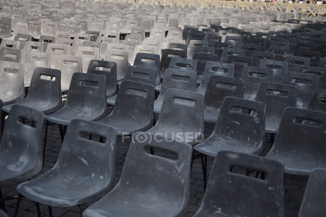 Vatican City, Row of chairs, Preparation for an audience of the Pope — Stock Photo