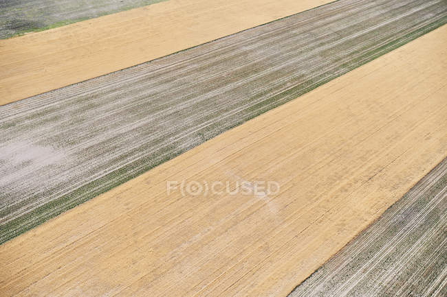 USA, Aerial photograph of contour farming after harvest in Western Nebraska — Stock Photo