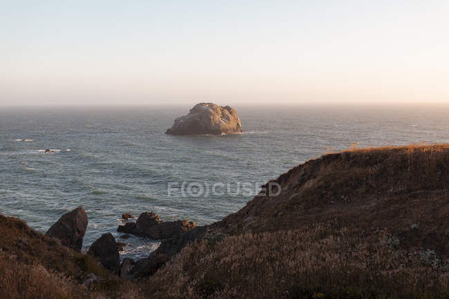 USA, California, West Coast, landscape at sunset — стокове фото