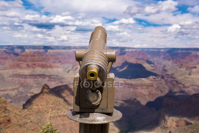 USA, Arizona, Grand Canyon National Park, Grand Canyon, South Rim, telescope — Fotografia de Stock