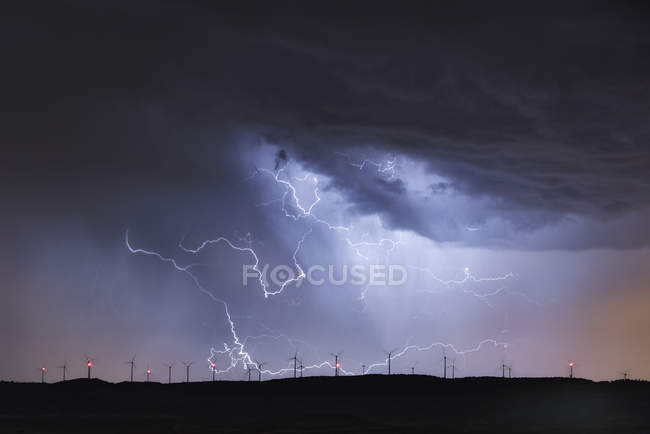 Spain,Burgos Province, Briviesca, thunderstorm — Stock Photo