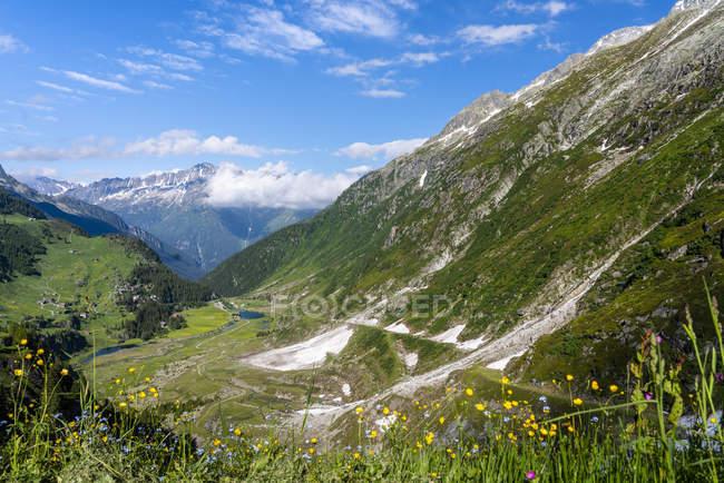 Switzerland, Canton of Uri, Goeschenen, Goescheneralp — Stock Photo