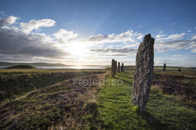 Gran Bretagna, Scozia, Orcadi, Terraferma, Anello di Brodgar, cerchio in pietra neolitica — Foto stock