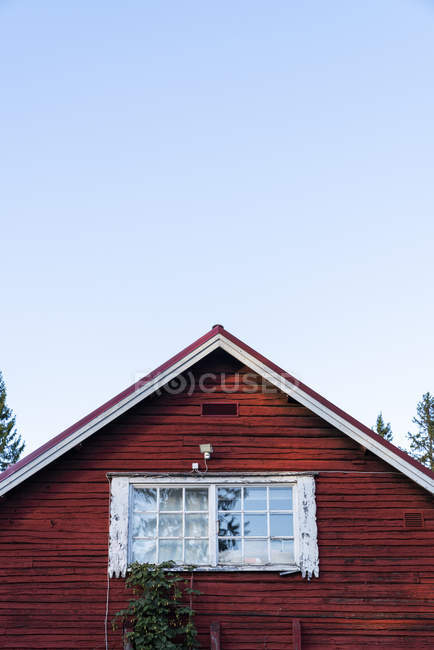 Finland, Close-up of a typically finish wood house — Stock Photo