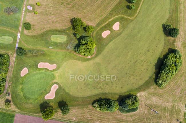 Germania, Baden-Wuerttemberg, Veduta aerea del campo da golf — Foto stock