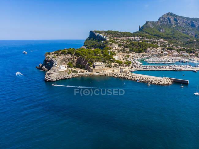 Spagna, Isole Baleari, Maiorca, Serra de Tramuntana, Port de Soller — Foto stock