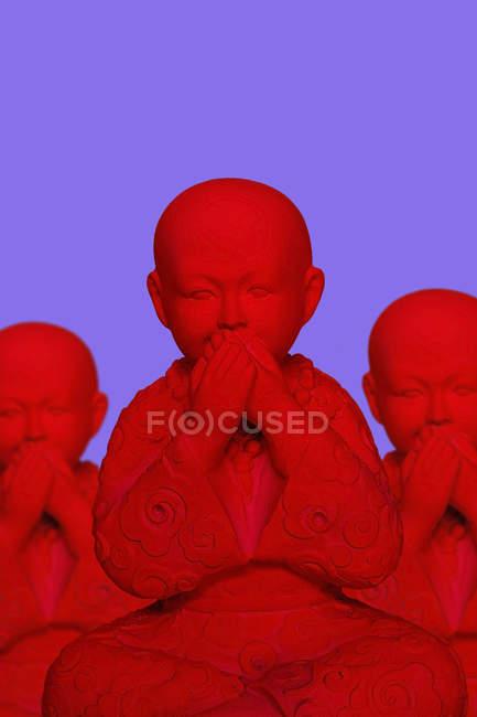 3D Rendering, buddhas keeping silence — Photo de stock