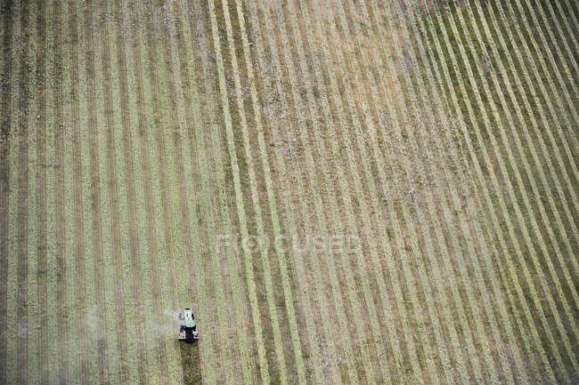 USA, Tractor and farming in Eastern Colorado — Stock Photo