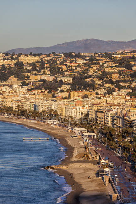 France, Provence-Alpes-Cote d'Azur, Nice, Promenade des Anglais in the morning light — Foto stock