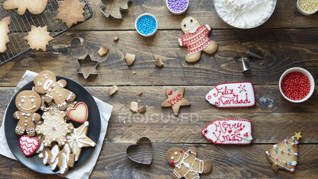 Biscuits maison au pain d'épice — Photo de stock