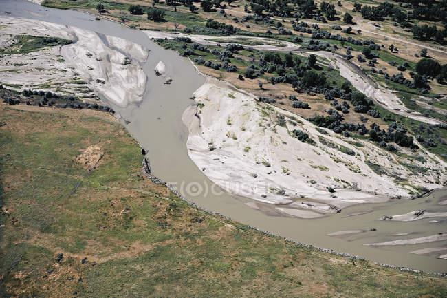 USA, Aerial of the Platte River in Western Nebraska — Fotografia de Stock