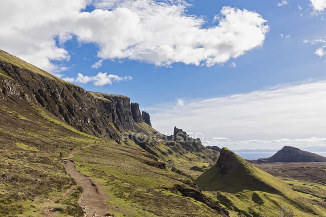 Uk, Schottland, Innere Hebriden, Isle of Skye, Trotternish, Quiraing, Wanderweg — Stockfoto