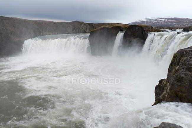 Islandia, norte de Islandia, cascada - foto de stock