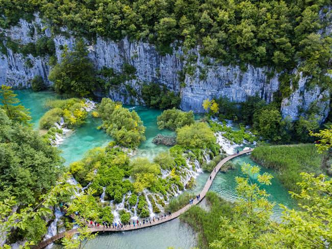 Croazia, Lika-Senj, Osredak, Parco nazionale dei laghi di Plitvice — Foto stock