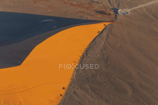 Africa, Namibia, Namib desert, Namib-Naukluft National Park, Aerial view of desert dune 45 — Stock Photo