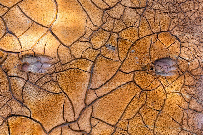 Spain, Andalusia, Rio Tinto, riverside, dried out sand — Stock Photo