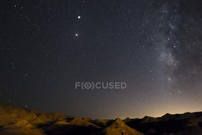 Iran, Yazd Province, Kharanaq, Total Lunar Eclipse — Stock Photo