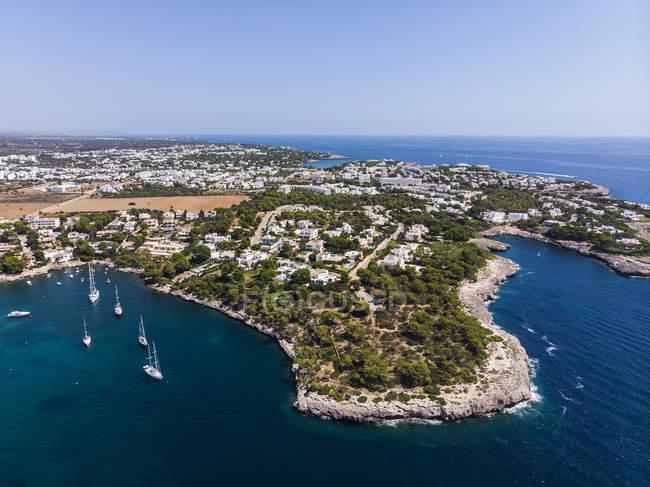 Spain, Balearic Islands, Mallorca, Region Cala d'Or, Coast of Porto Petro — стоковое фото