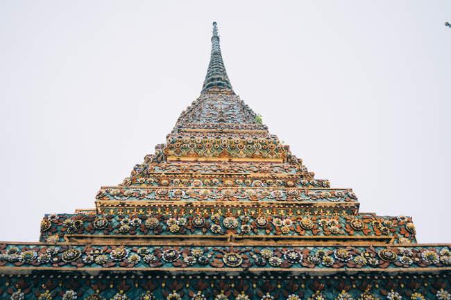 Tailândia, Banguecoque, O Grande Palácio, Pagode colorido — Fotografia de Stock