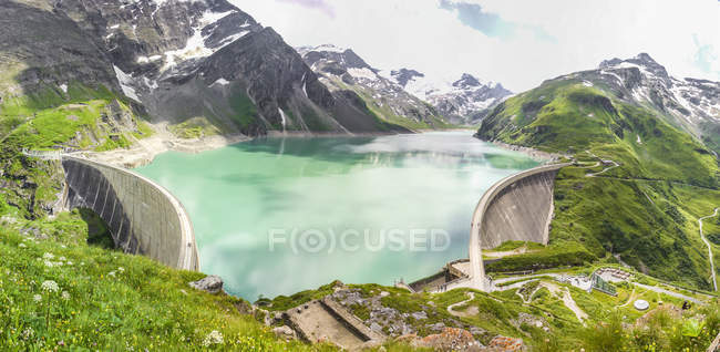 Áustria, Salzburgo, distrito de Zell am See, barragem de Mooserboden — Fotografia de Stock