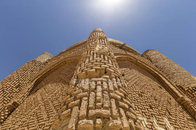 Iran, Provincia di Quazvin, Le Torri del Kharaghan, vista dell'occhio del verme — Foto stock