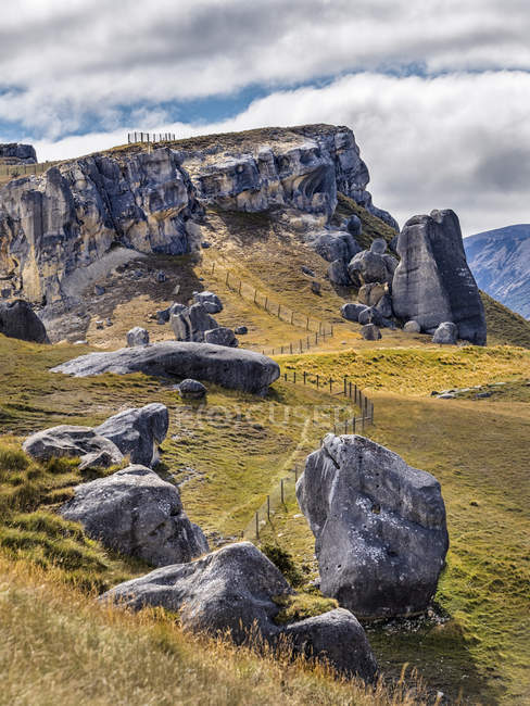 New Zealand, South Island, Canterbury Region, Arthur's Pass National Park, Castle Hill — Stock Photo