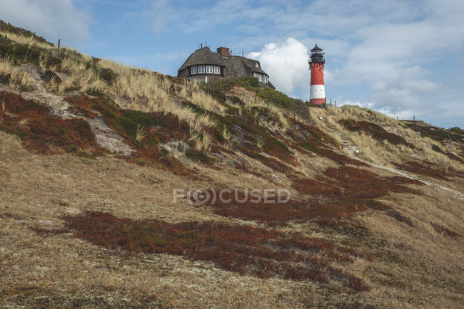 Germany, Schleswig-Holstein, Sylt, hoernum, lighthouse — Stock Photo