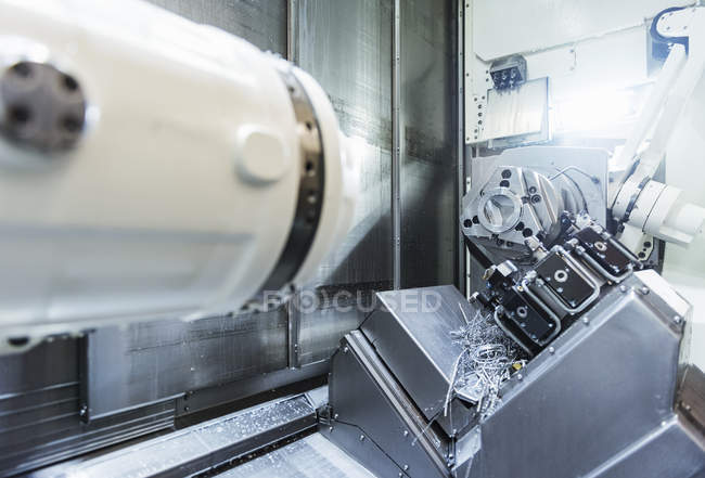 Interior with Modern machine in factory — Stock Photo