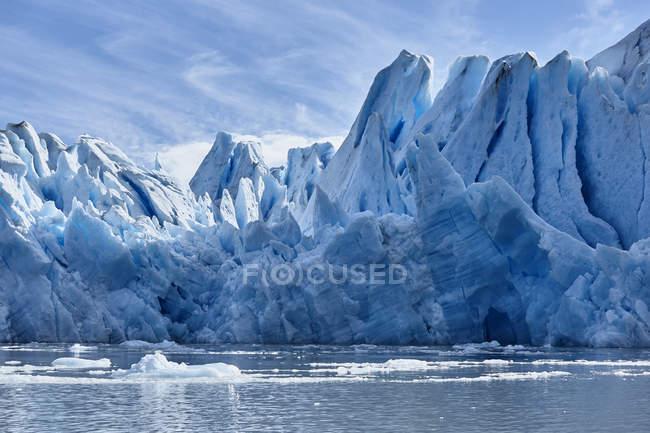 América do Sul, Chile, Parque Nacional Torres del Paine, geleira cinzenta no Lago Grey — Fotografia de Stock