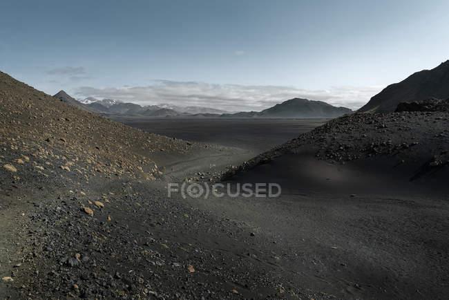 Iceland, Emstur, South West, Laugavegur trail from Landmannalaugar to Porsmoerk — стокове фото