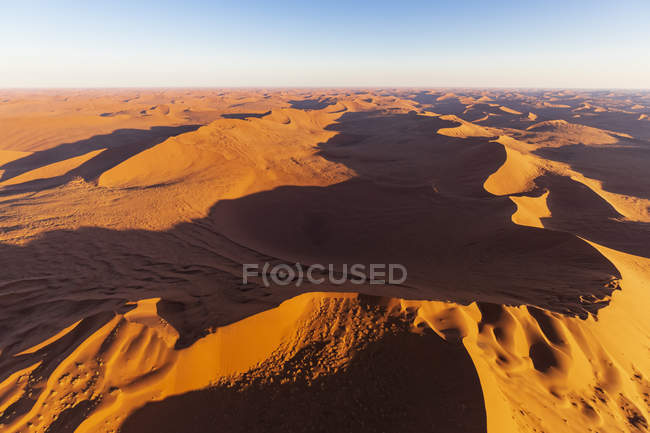 Africa, Namibia, Namib desert, Namib-Naukluft National Park, Aerial view of desert dunes — Stock Photo