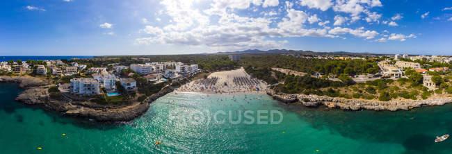España, Mallorca, Portocolom, Punta des Jonc, Bahía de Cala Marcal, playa - foto de stock