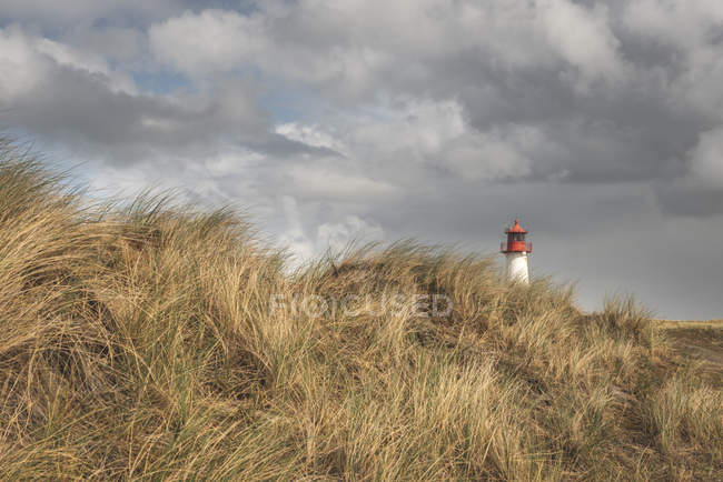 Germany, Schleswig-Holstein, Sylt, Ellenbogen, lighthouse List West — Stock Photo