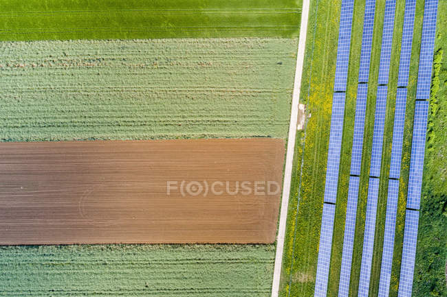 Germany, Baden-Wuerttemberg, Schurwald, solar plant — Stock Photo