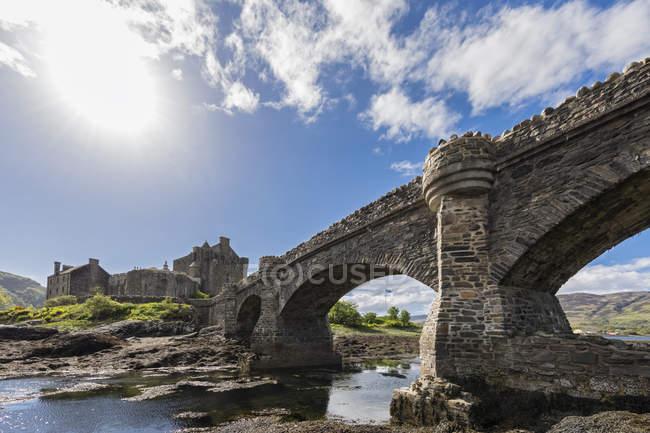 Royaume-Uni, Écosse, Dornie, Loch Duich, Eilean Donan Castle — Photo de stock