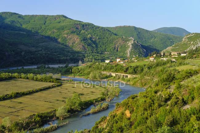 Albânia, Elbasan, perto de Librazhd, shkumbin Valley, shkumbin River — Fotografia de Stock