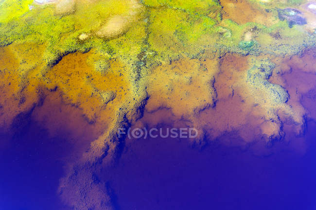 Spain, Andalusia, water of the Rio Tinto, coloured by dissolved minerals, primarily iron — Stock Photo