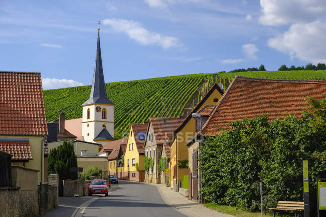 Allemagne, Bavière, Franconie, Escherndorf près de Volkach — Photo de stock