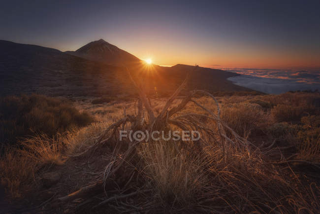 Spain, Canary Islands, Tenerife, Teide National Park at sunset — Stock Photo