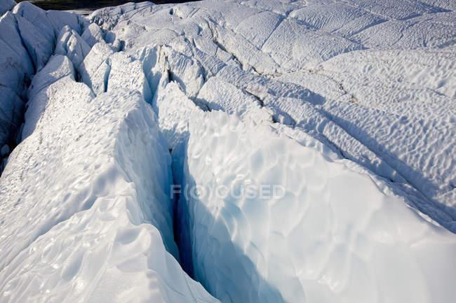 EUA, Alasca, fenda no Glaciar Matanuska — Fotografia de Stock