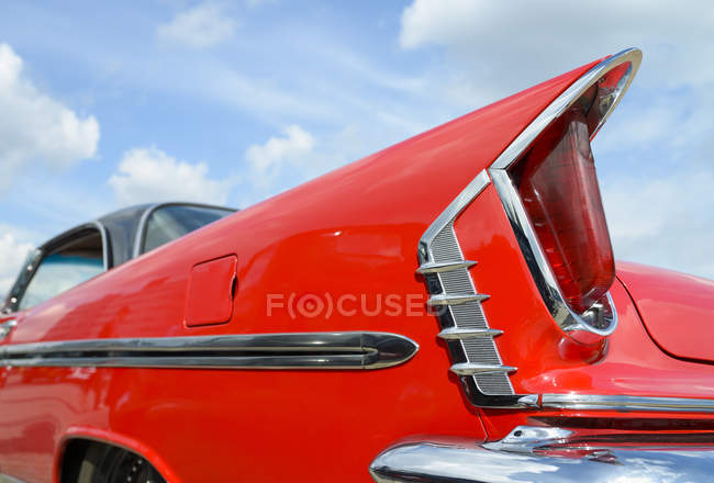Detail of oldtimer, red DeSoto — Stock Photo