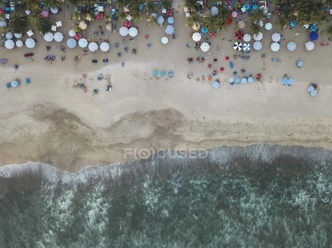 Indonesia, Bali, Veduta aerea della spiaggia di Padma — Foto stock
