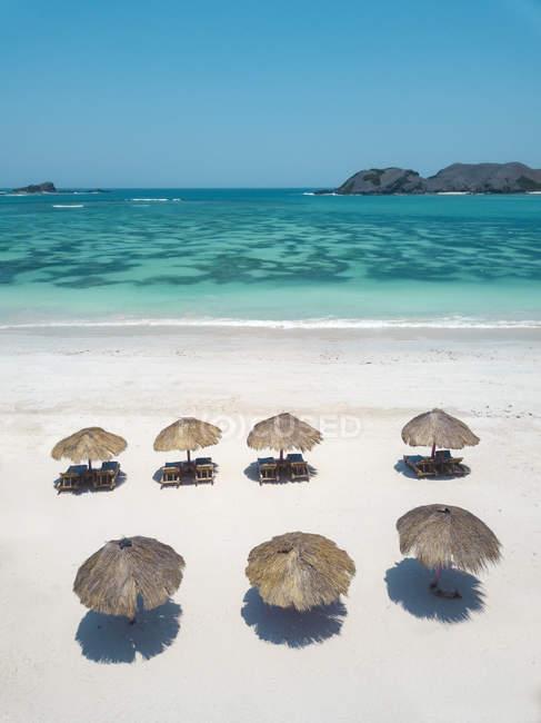 Indonesia, Lombok, Veduta aerea della spiaggia — Foto stock