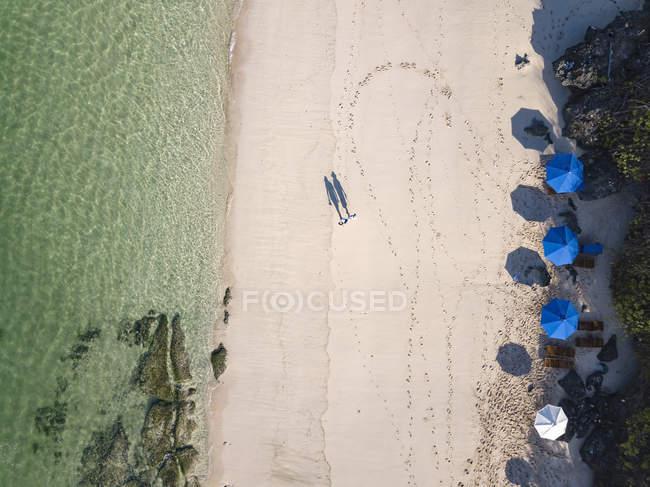 Indonesia, Bali, Veduta aerea della spiaggia di Melasti — Foto stock